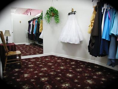 Spacious dressing rooms