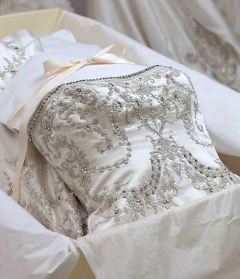 Example of boxed gown