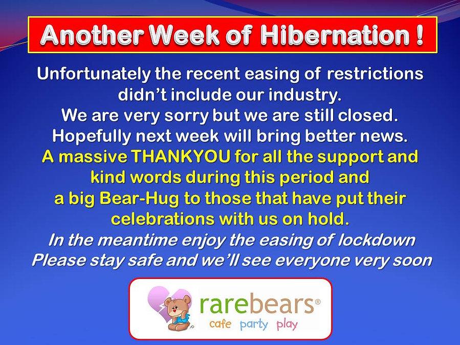 Another week of hibernation 11 june 2021
