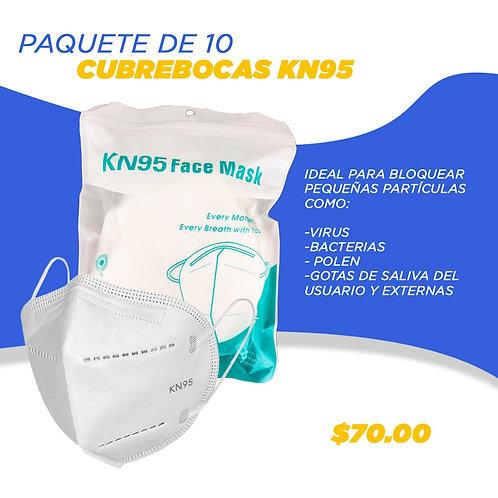 Cubre Boca KN95 10 pzas.