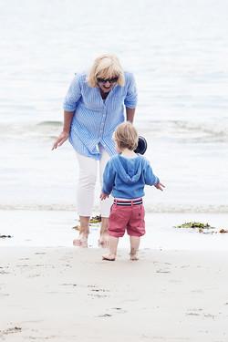 Boy Playing on the Beach Cornwall