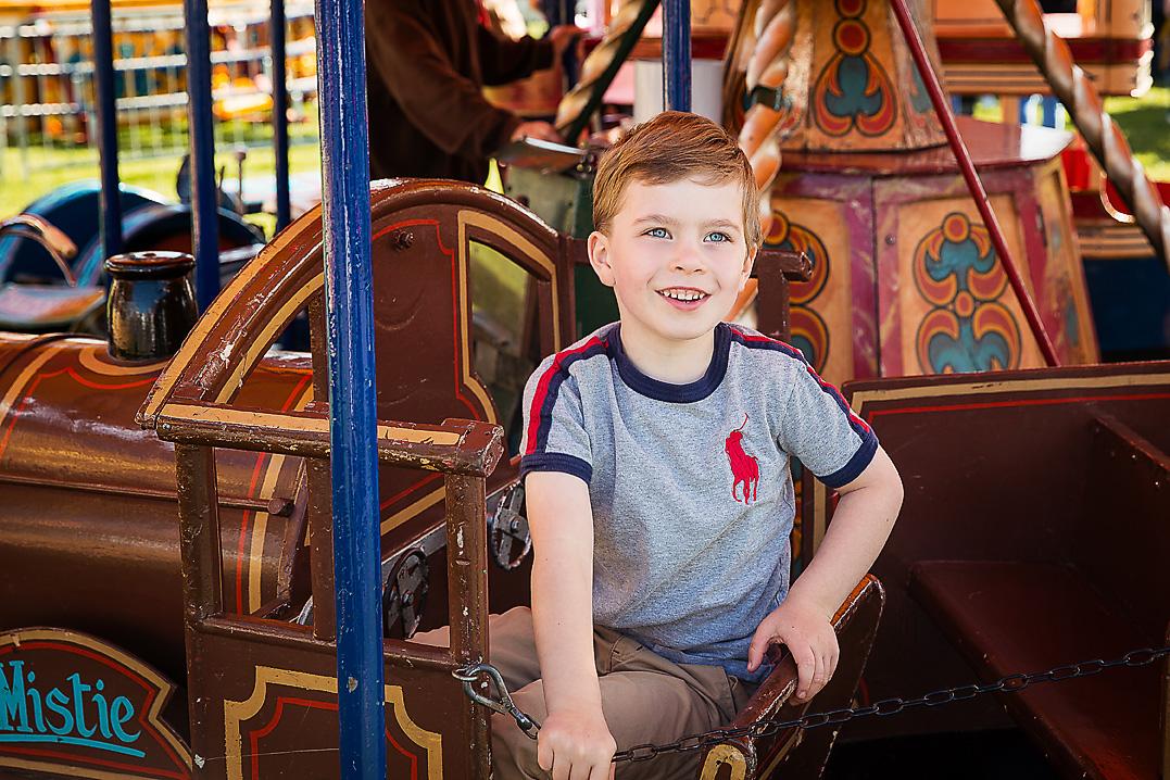 Boy ona Fairground ride