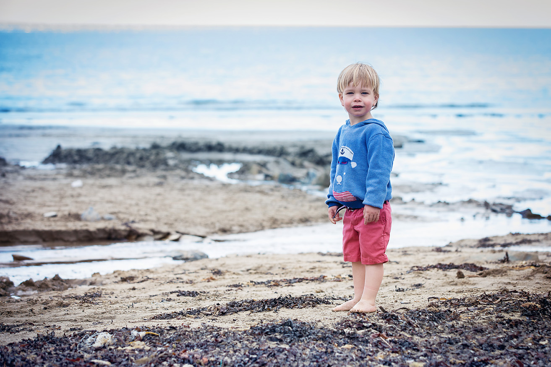 Boy on the beach Cornwall