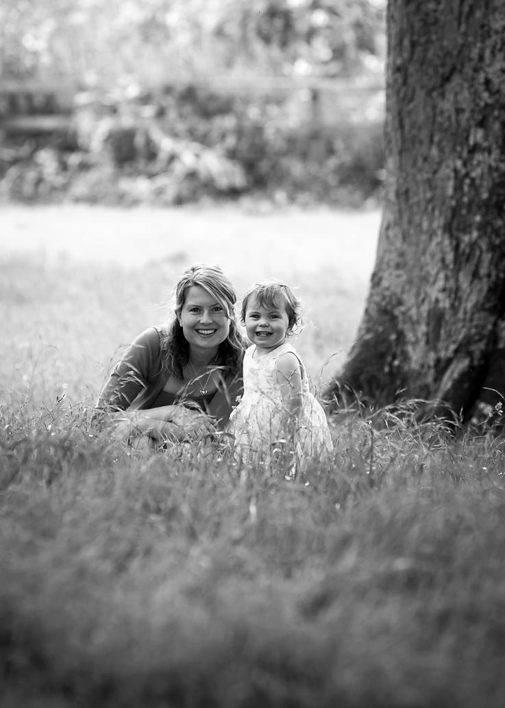 Girl and mum Blenheim Palace