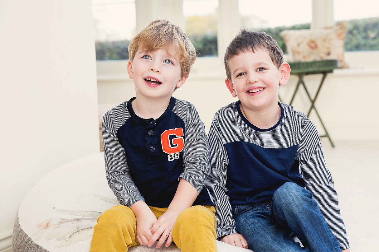 Cousins smiling Chilton