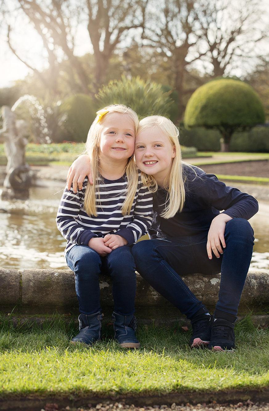 Girls by Fountain Waddesdon Manor