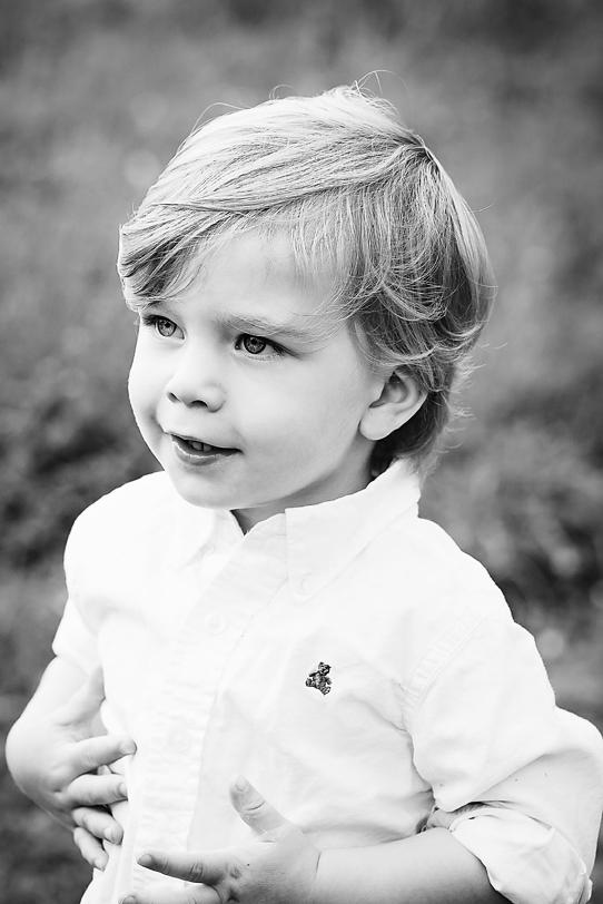 Cute Boy Black and White