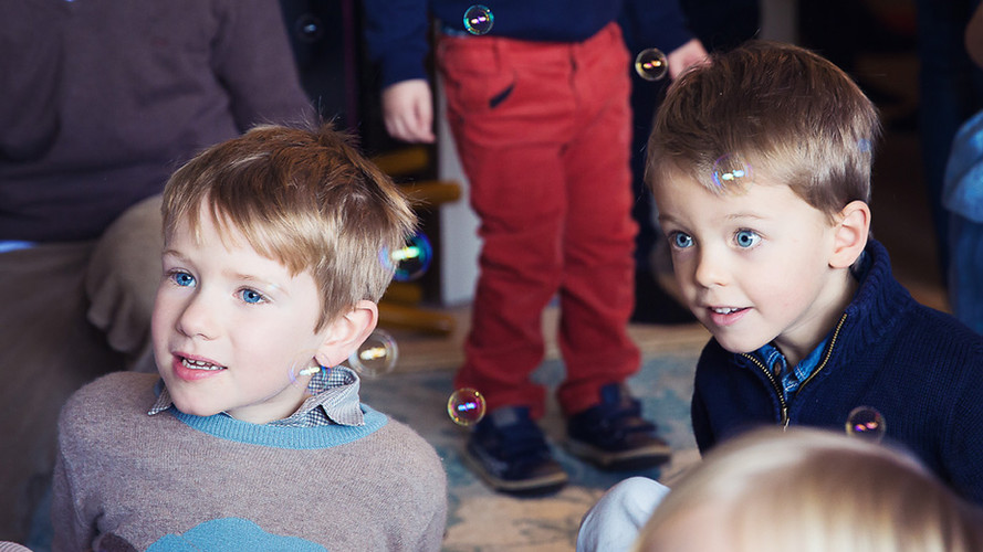 Boys with Bubbles at a party