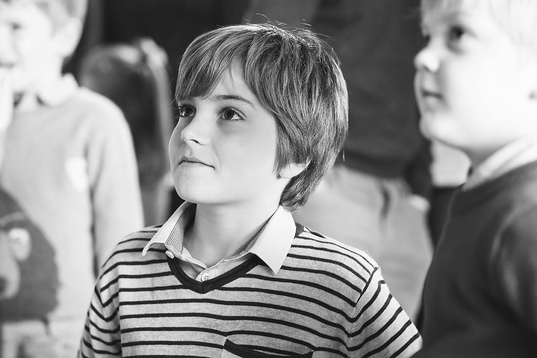 Gorgeous boy black and white photo