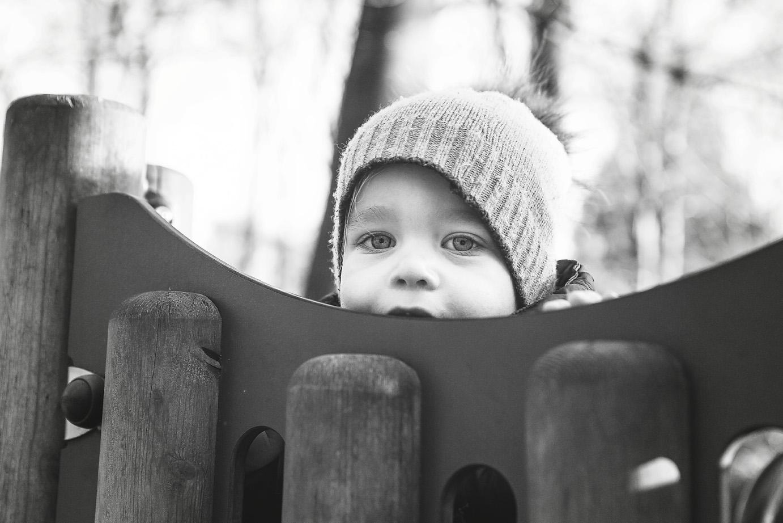 Boy Peeping Wendover Woods