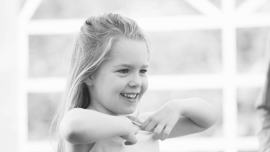 Black and White Photo Girl Dancing