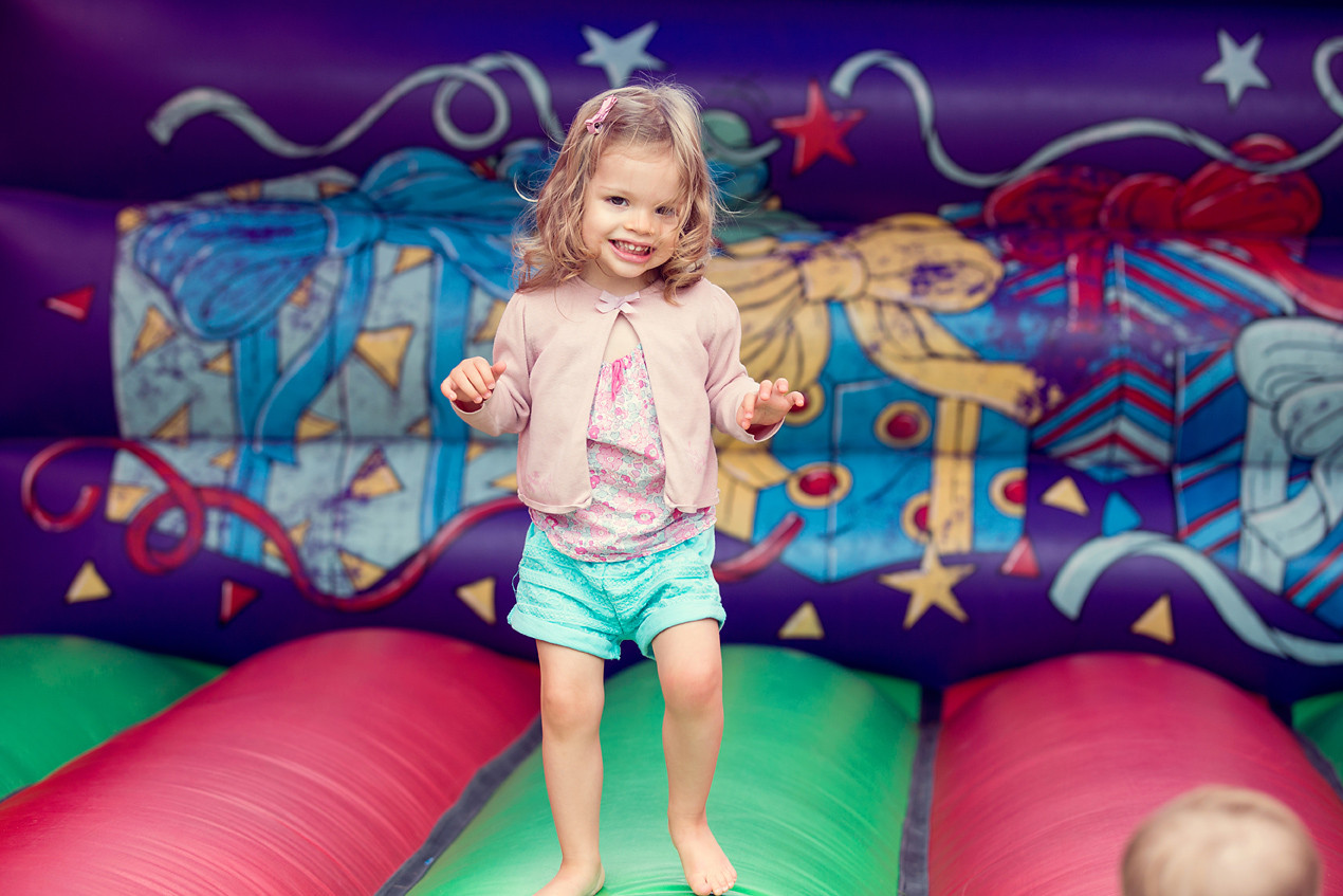 Small Girl on a bouncy castle