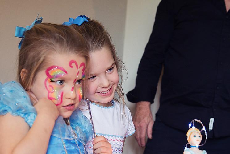 Sisters at a Princess Party
