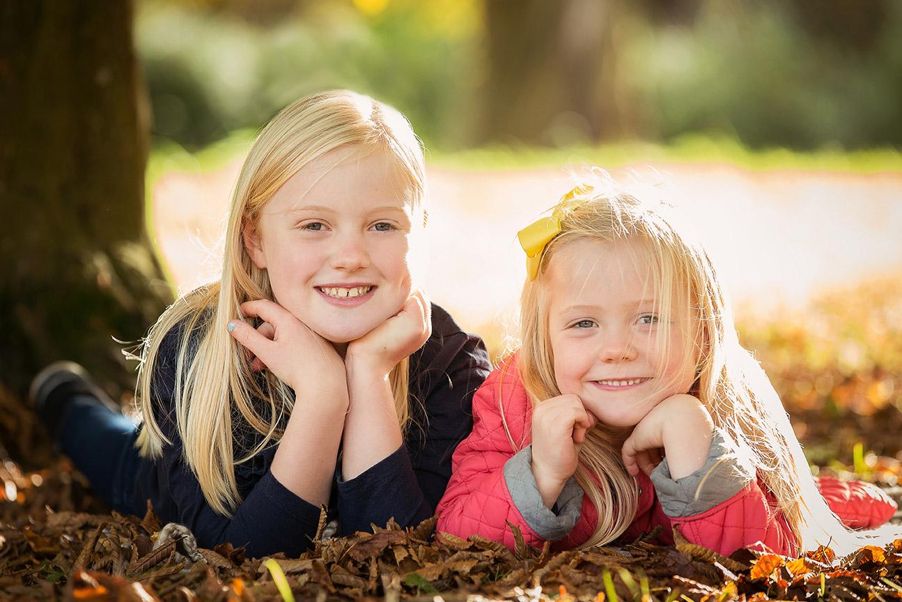 Girls in Leaves Waddesdon