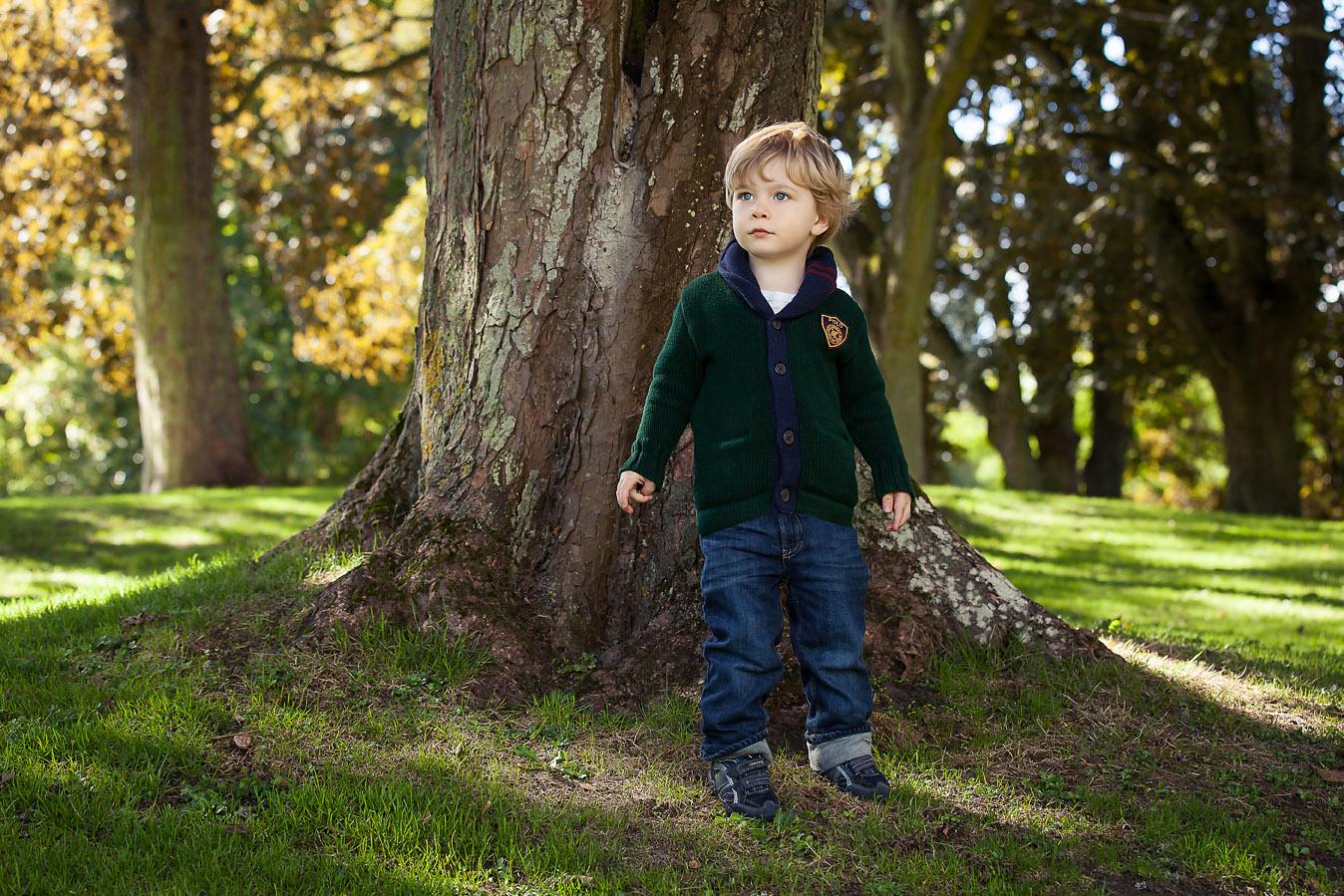 Boy in Autumn colours Waddesdon