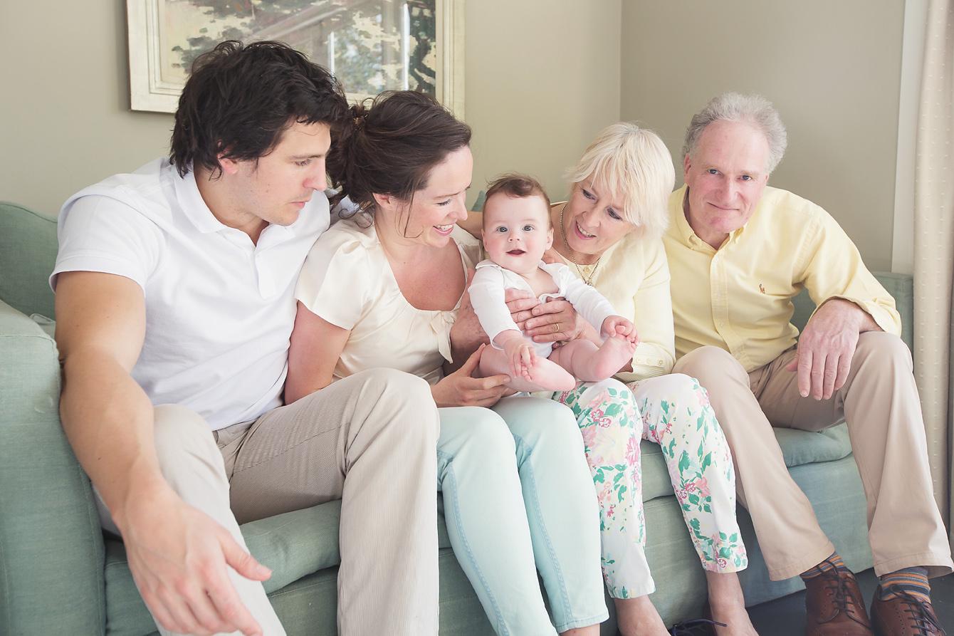 Family Photo on sofa Kent