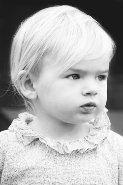 Beautiful Girl Black and White Photo