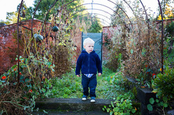 Boy in Cold Garden