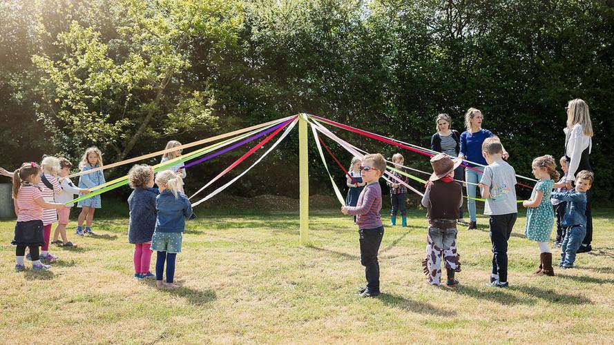 Maypole at a summer party