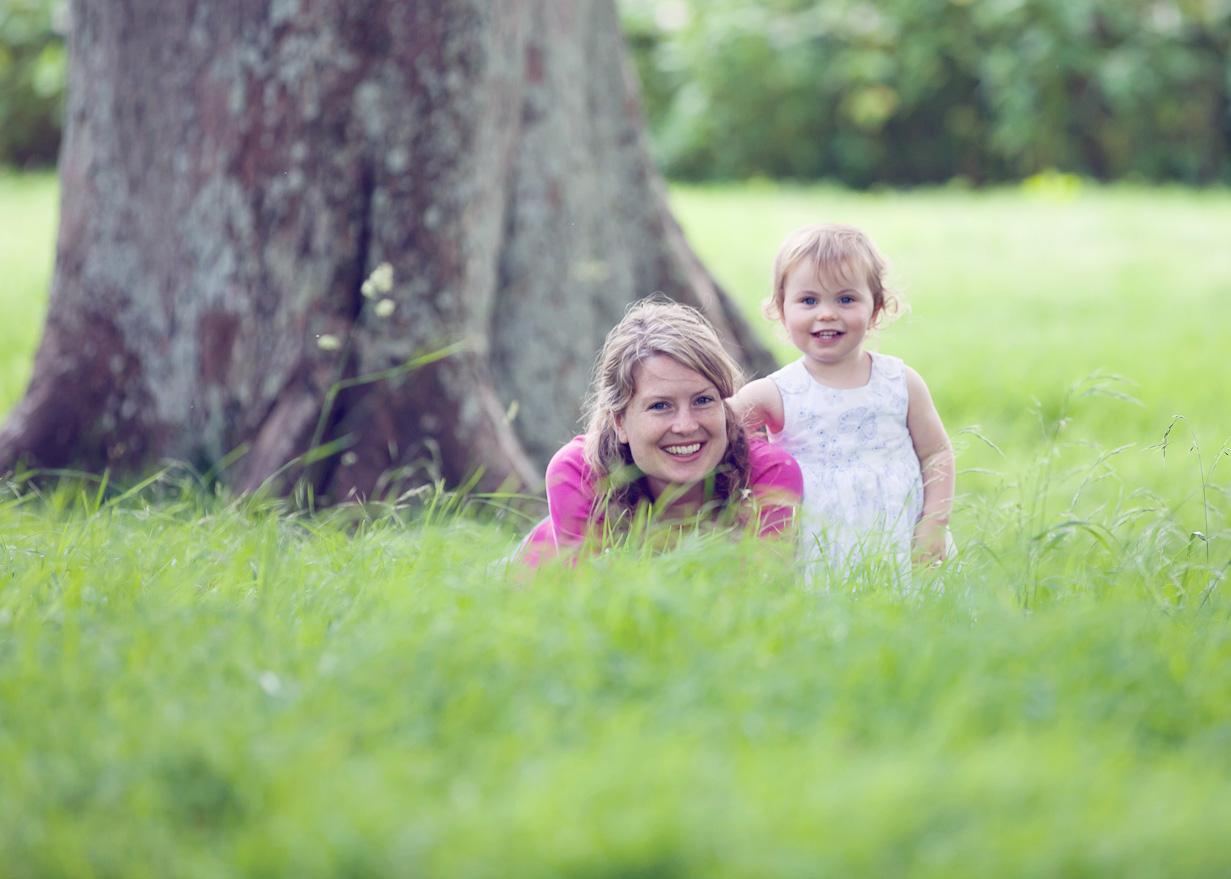Girl in grass Blenheim Palace