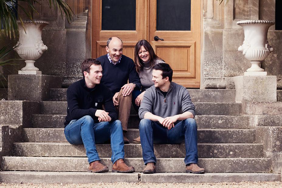 Family Photo on Steps Waddesdon