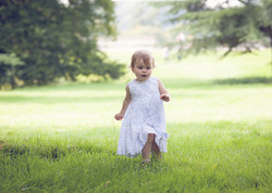 Girl running Blenheim Palace
