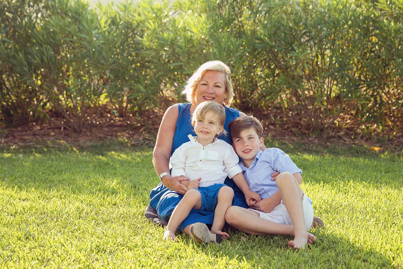 Nanna with Grandsons Majorca