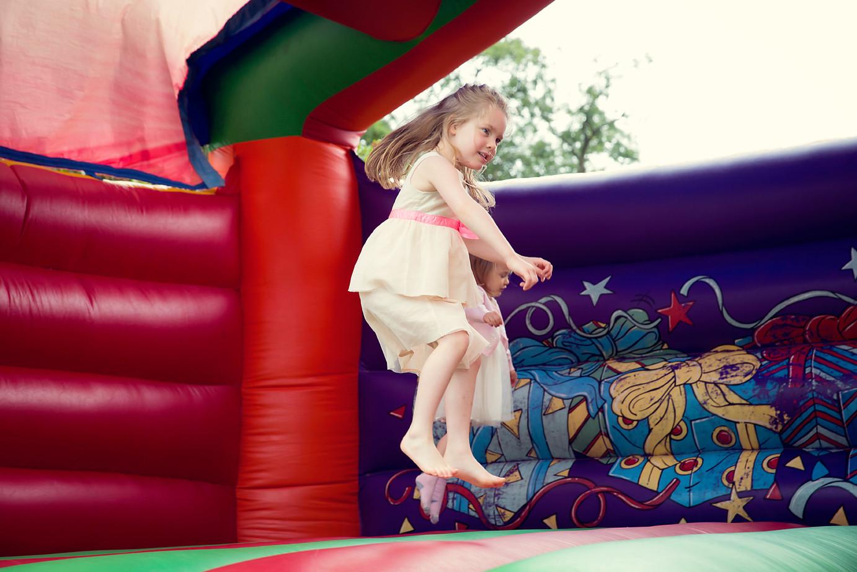 Girl on a bouncy castle