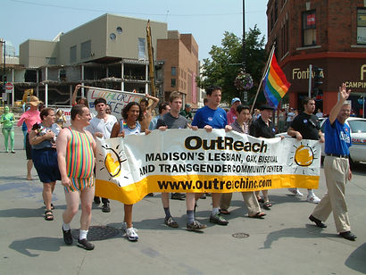 OutReach at Madison Pride early 2000s