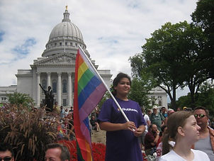 Little Girl in OutReach T-Shirt at Madison Pride