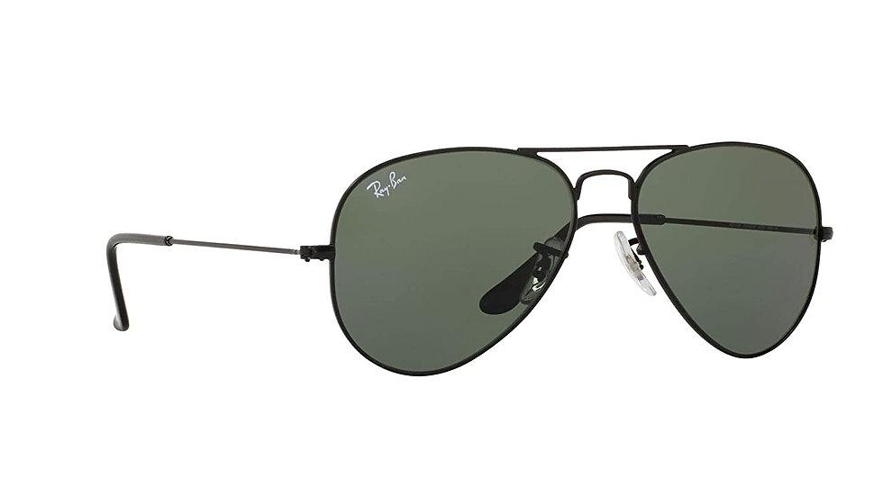 Ray-Ban UV protected Aviator Unisex Sunglasses (0RB3025I|51 mm|Green)