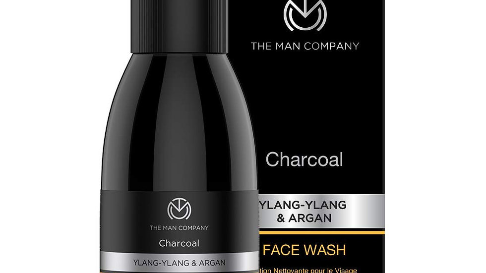 The Man Company Activated Charcoal Face Wash (Ylang Ylang & Argan Essential Oil