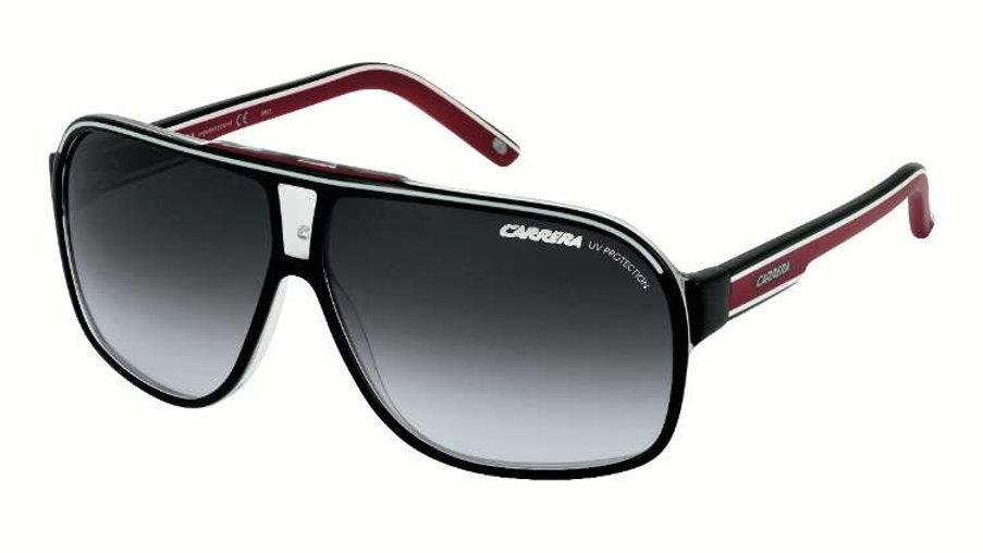 Carrera Grand Prix 2 T40(90) Black and White Grand Prix 2 Aviator Sunglasses