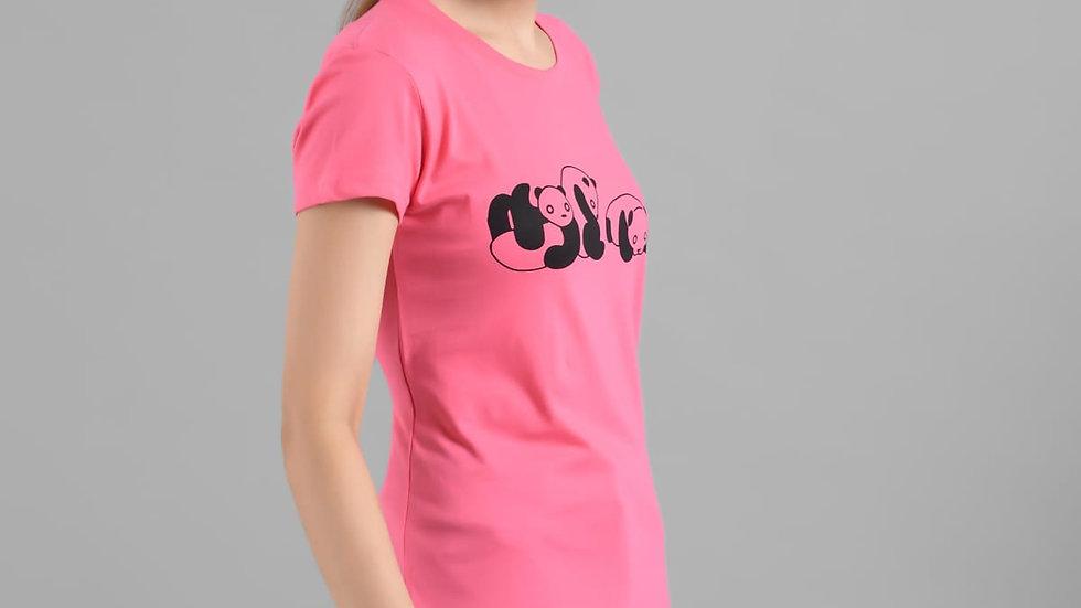 Kotty  Cotton Half Sleeves Regular Regular Tshirt For Women