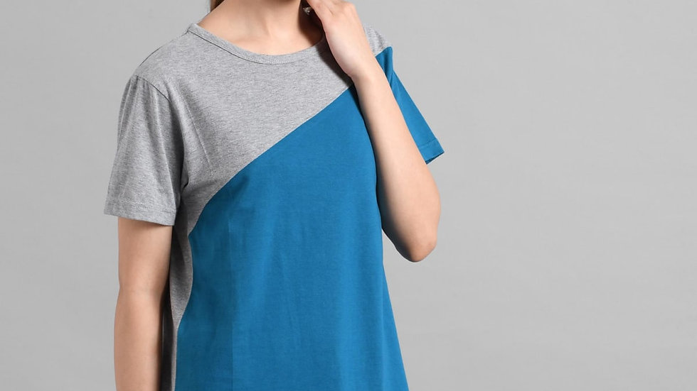 Kotty  Cotton Half Sleeves Regular Regular Tshirt For Women