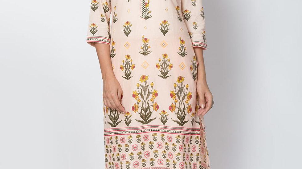 Biba -  Cotton Straight Kurta  for Women & Girls