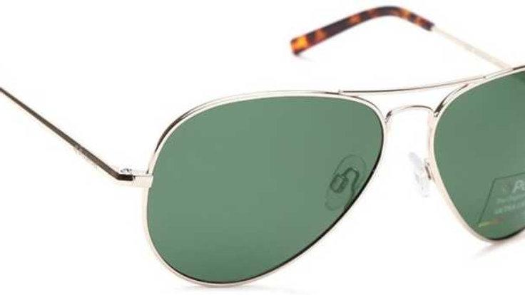 Polarized, UV Protection Aviator Sunglasses (Free Size)  (Green)