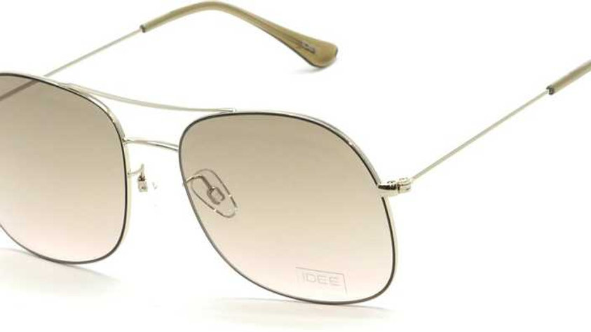 IDEE  Gradient Aviator Sunglasses (Free Size)  (Golden, Pink)