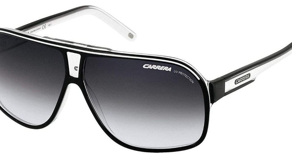 Carrera Grand Prix 2 T4M Black and White Grand Prix 2 Aviator Sunglasses