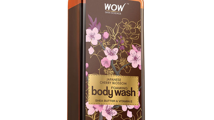 WOW Skin Science Japanese Cherry Blossom Foaming Body Wash (250ml)
