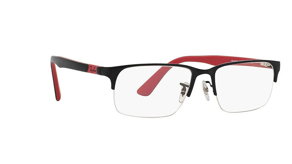 Ray-Ban Rectangular Unisex Optical Frames (0RX6305I|53.7 mm|Transparent)