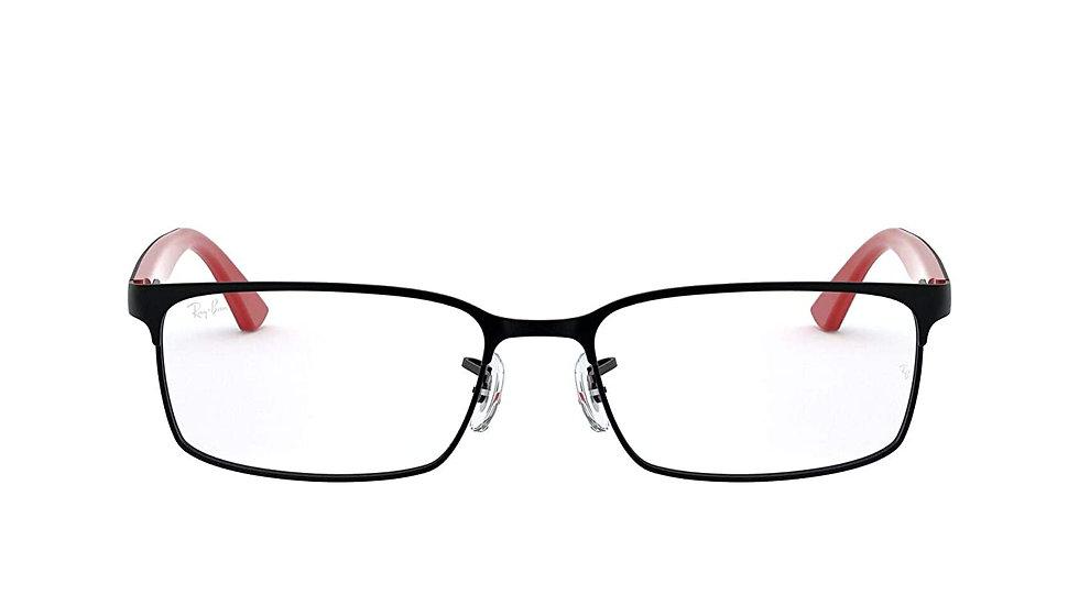 Ray-Ban Rectangular Unisex Optical Frames (0RX6325I|55 mm|Transparent)
