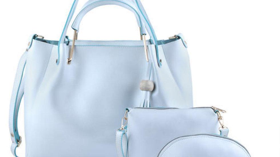 Trendoo Faux  Leather White   Zipper Closure Formal HandBag ( 4 Pcs. Combo)