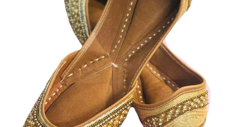 Handmade Golden Jutti by Buckled Wardrobe