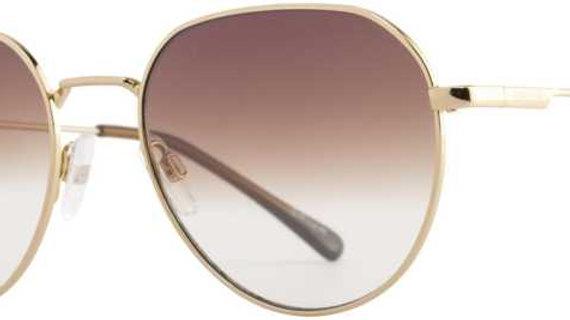 Opium  UV Protection Rectangular Sunglasses (54)  (Brown)