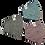 Thumbnail: Richman 3 Layer Designer Face Mask - Pack of 3
