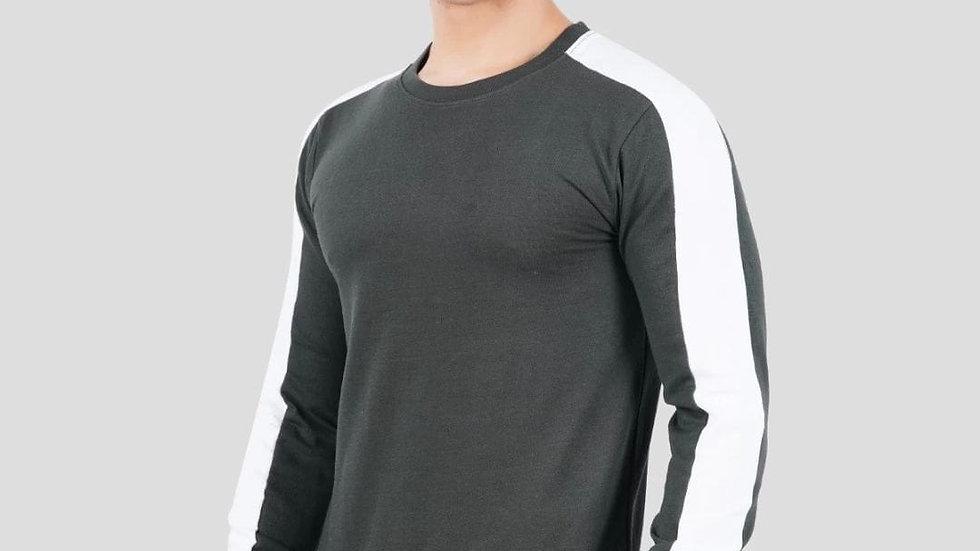 Tom Hiddle Fleece Full Sleeve Round Neck Solid Men's Sweatshirt
