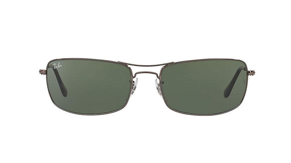 Ray-Ban UV protected Rectangular Sunglasses (0RB3334I|61 mm|Green)
