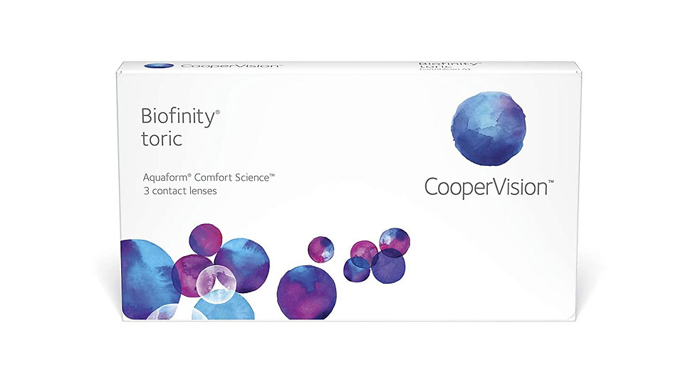 CooperVision Biofinity Toric Contact Lenses (3 Lens Pack, Clear)