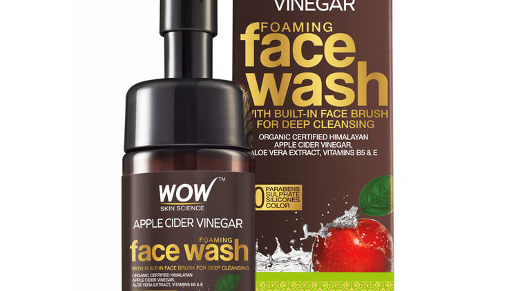 WOW Skin Science Apple Cider Vinegar Foaming - No Parabens, Sulphate Face Wash